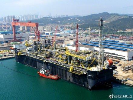 我国首次自主集成世界级海上油气处理厂交付